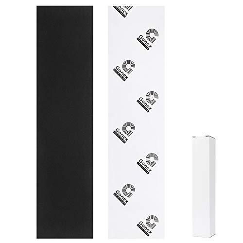 Gonex Skateboard Griptape 110 x 26 cm, blasenfrei mit Schleifpapier für Treppen Pedal