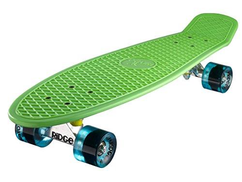 Ridge Skateboard Big Brother Nickel 69 cm Mini Cruiser, grün/klar blau