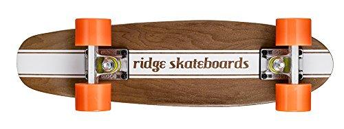 Ridge Maple Holz Mini Cruiser Number Four Skateboard, Orange, MPB-22-NR4