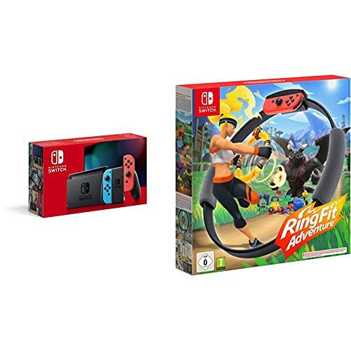 Nintendo Switch Konsole - Neon-Rot/Neon-Blau + Ring Fit Adventure - [Nintendo Switch]