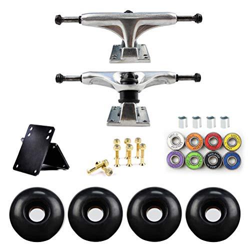 Borstu Skateboard Trucks Skateboard Räder Set Skateboard Achse Bridge Skate Board Halterung Skateboard Hardware PU-Stoßdämpfer