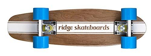 Ridge Cruiser Maple Holz Mini Number Four Skateboard, Blue, MPB-22-NR4