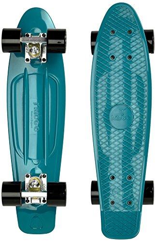 Ridge 22' Organics Range Skateboard, Teal/Schwarz, Zoll